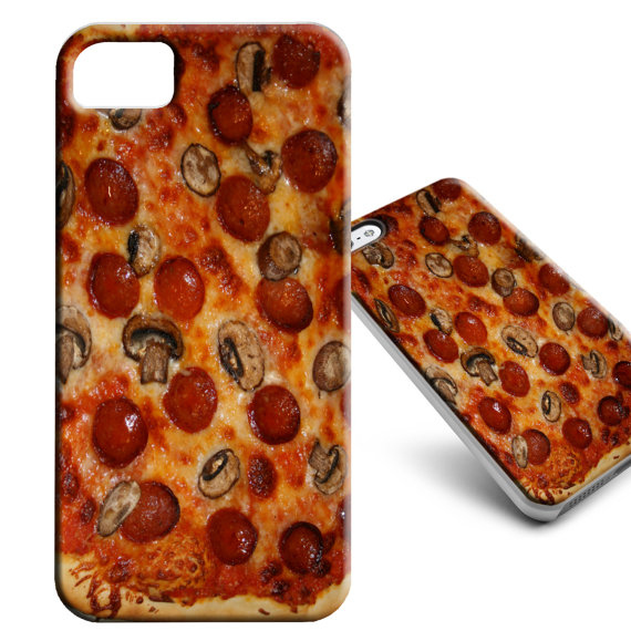 coque iphone en forme de pizza