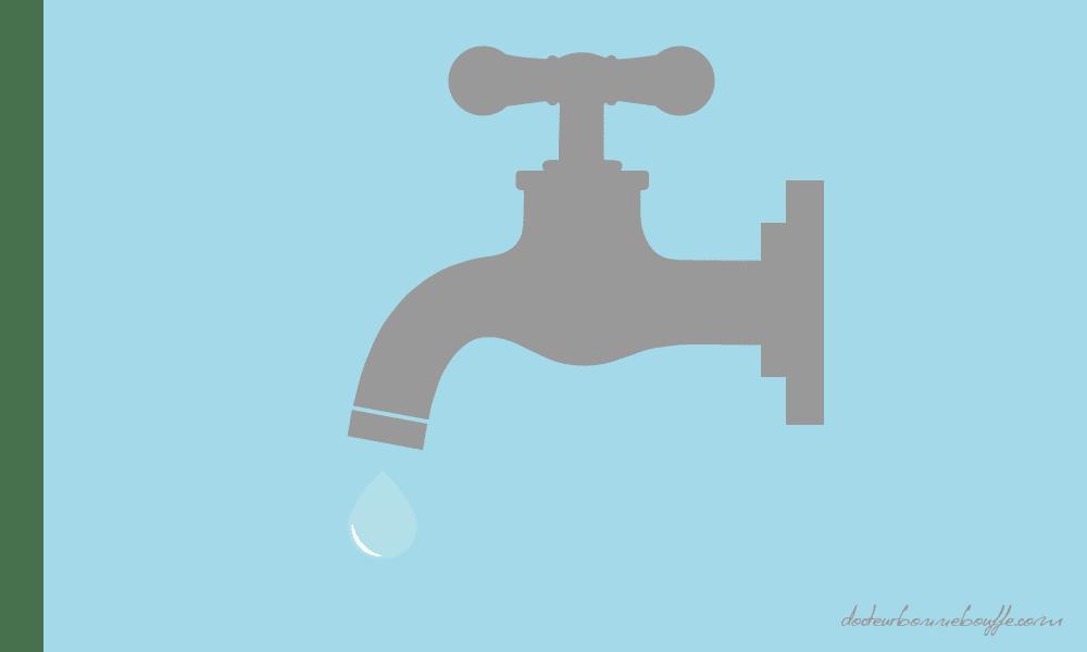 boire de l'eau du robinet