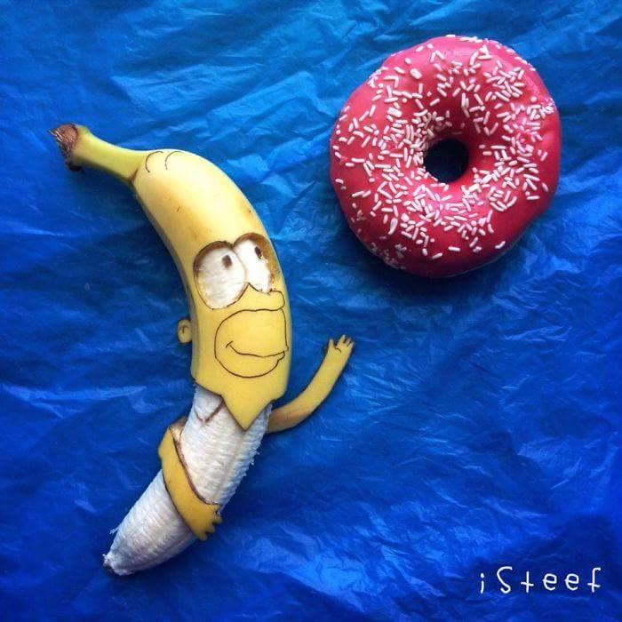 banane donne la pêche