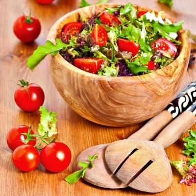 Salade de tomates cerises saine