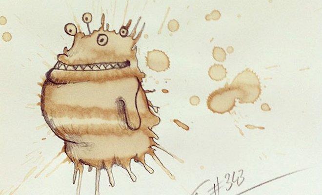 dessins taches de cafe