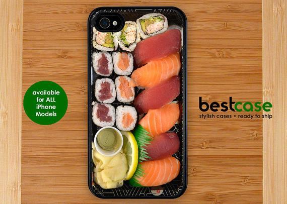 coque smartphone sushi