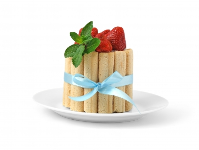 Dessert fraises menthe