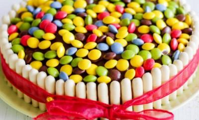 recette gateaux bonbons smarties