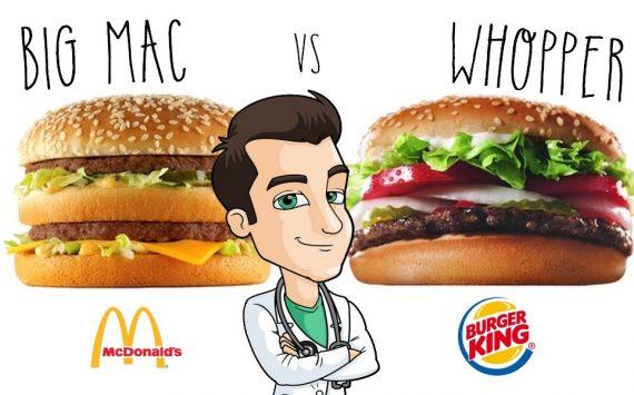 La Battle des Burgers : Big Mac vs Whopper, lequel est le plus sain ?