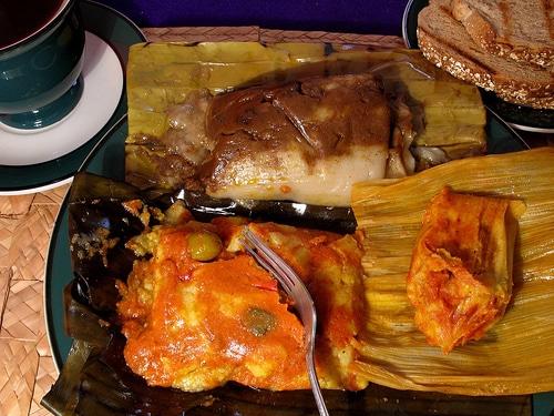 Plats traditionnels de Noel au Guatemala : los Tamales colorados