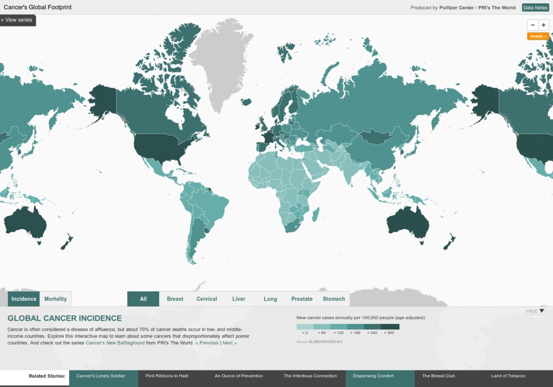 comparatif taux de cancer dans le monde