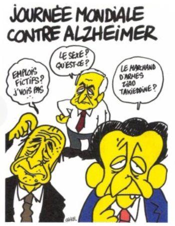 Charlie Hebdo - Dessin satirique alzheimer humour