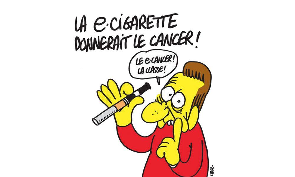 Charlie Hebdo - Dessin satirique cigarette electronique humour charb