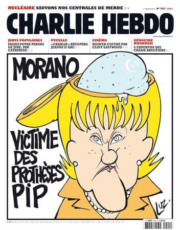 Charlie Hebdo - Dessin satirique humour prothèses pip morano