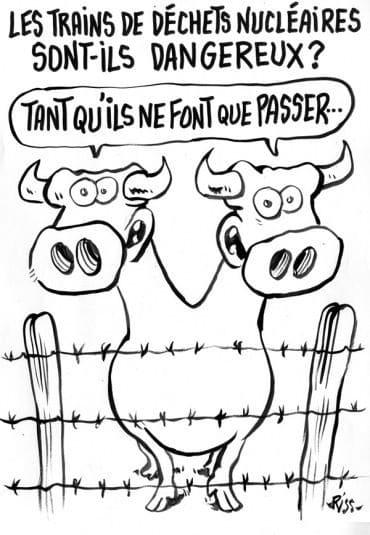 Charlie Hebdo - Dessin satirique nocivité nucléaire déchets