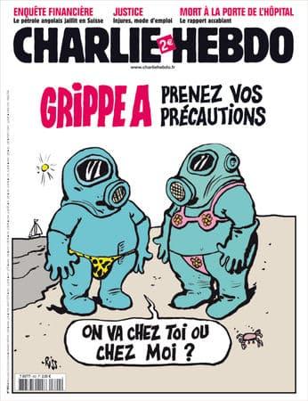Charlie Hebdo - Dessin satirique santé - grippe A