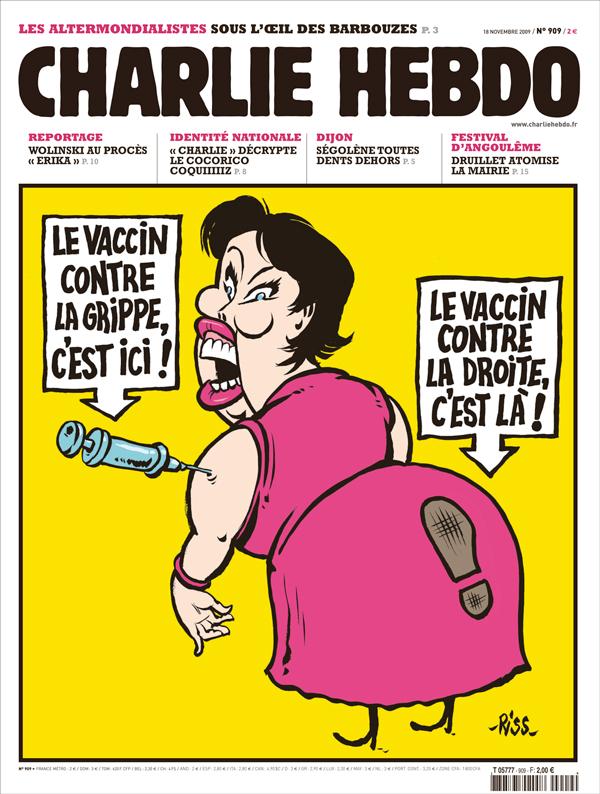 Charlie Hebdo - Dessin satirique santé - le vaccin obligatoire