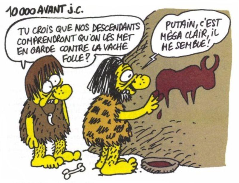 Charlie Hebdo - Dessin satirique vache folle humour santé