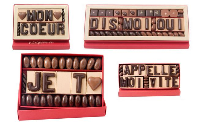 JADIS ET gourmande message d'amour en chocolat