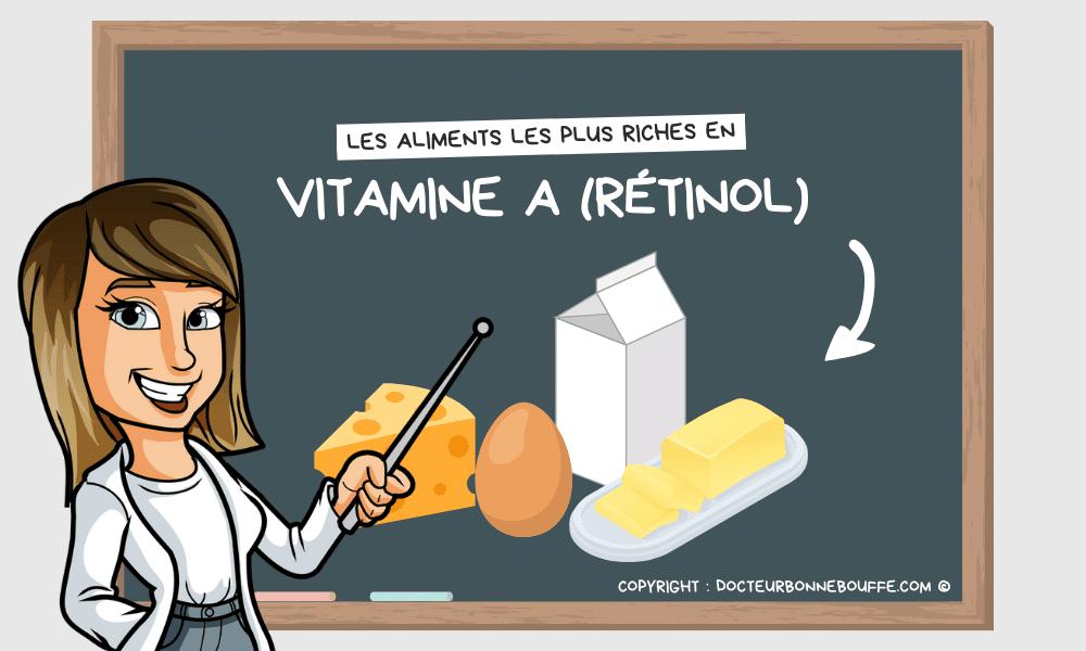 Liste des aliments les plus riches en vitamine A sous forme de rétinol