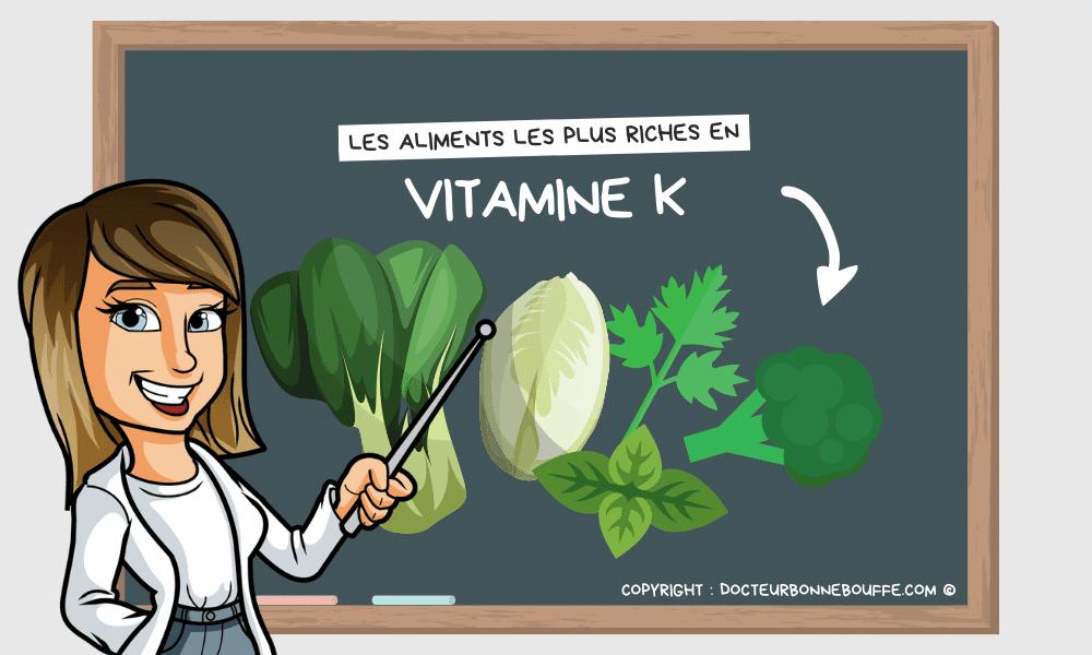 Quels sont les aliments les plus riches en vitamine K ?