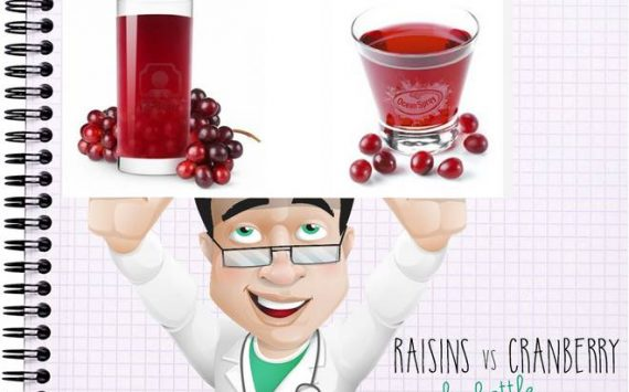 Raisins vs. Cranberry: la battle !
