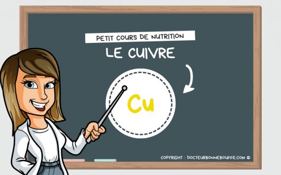 Petit cours de nutrition : à quoi sert le cuivre (Cu) ?