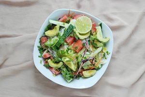 salade avocat pastèque