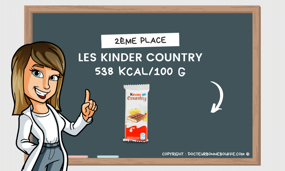 kinder country calories