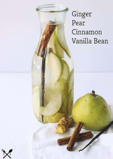 recette eau infusée poire et vanille
