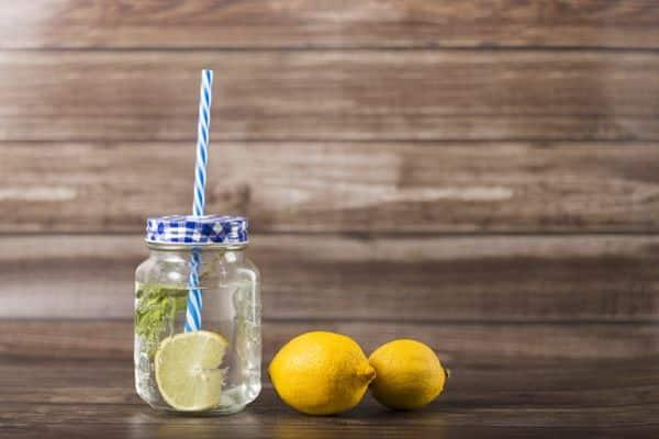 eau aromatisée au citron