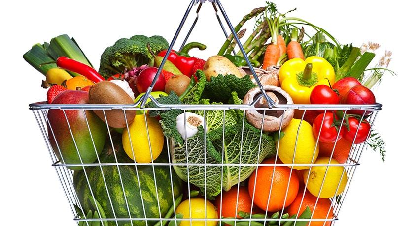 fruits et légumes non bio
