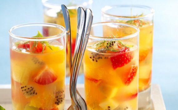 Verrines de fruits au Champagne (recette facile – spécial Nouvel An)