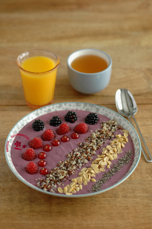 recette smoothie bowl au quinoa