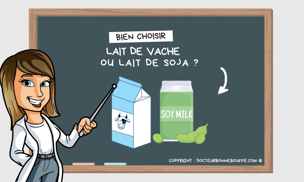 lait vache lait soja santé