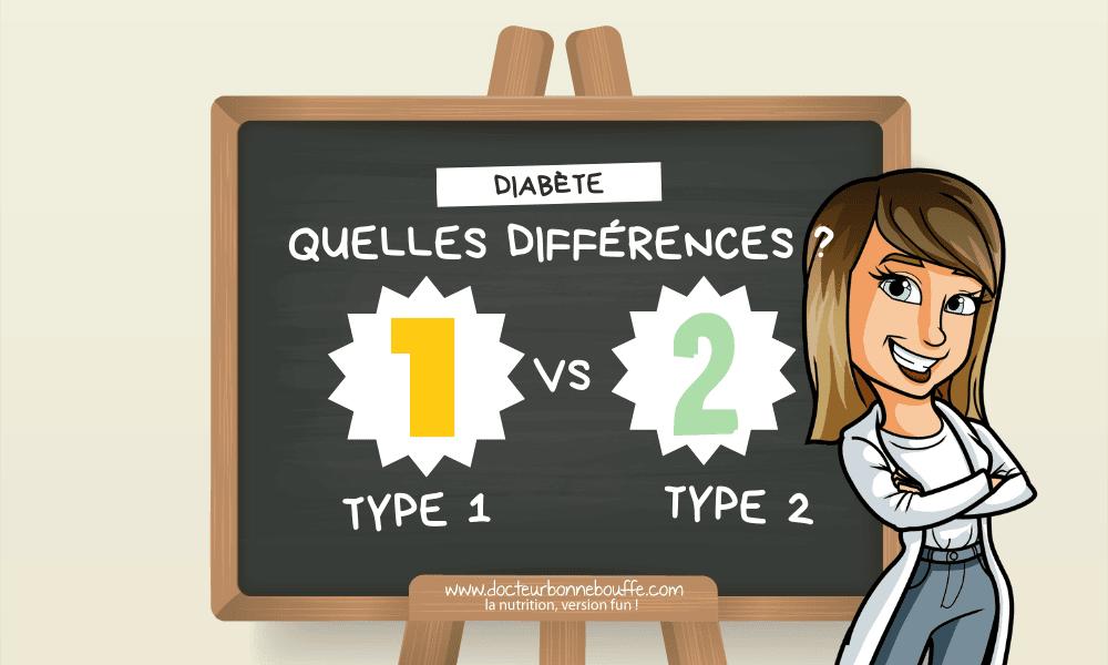 diabète type 1 vs type 2 différences principales