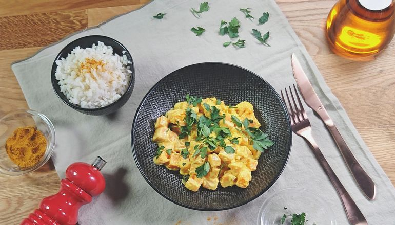 Curry de Patates douces (Recette facile ⭐)