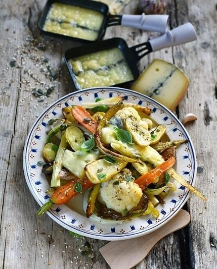 légumes au fromage raclette