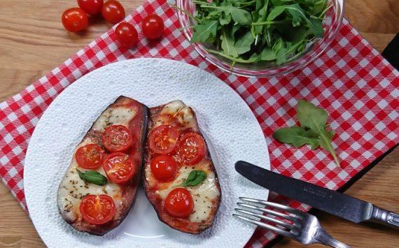 Pizza d'aubergines (Recette facile ⭐)