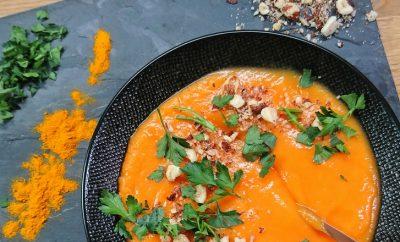recette soupe de potiron noisettes