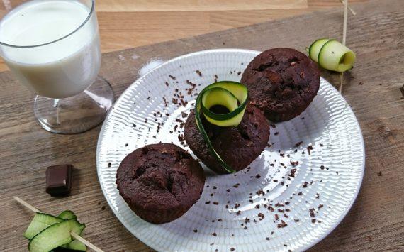 Muffins au chocolat et à la courgette (Recette facile ⭐)