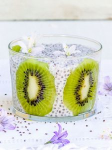 pudding graines de chia kiwi