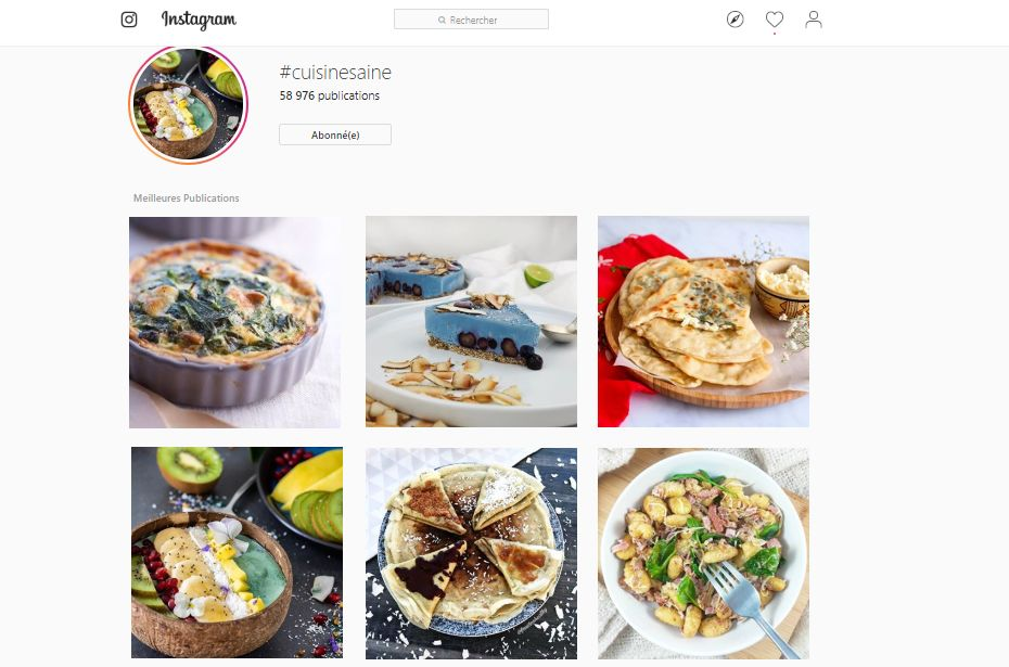 recettes instagram