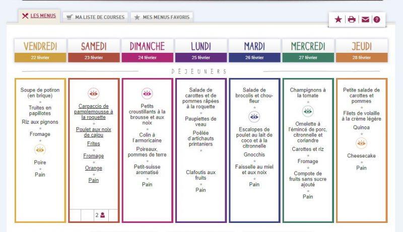 idées recettes inspiration fabrique à menus