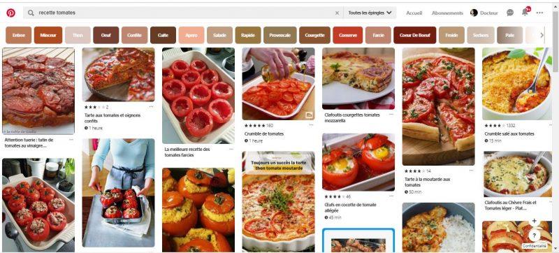 trouver inspiration culinaire pinterest