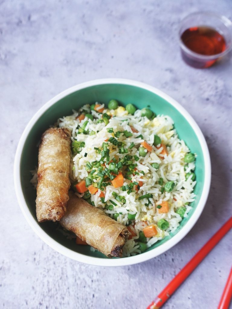 riz cantonais végétarien recette