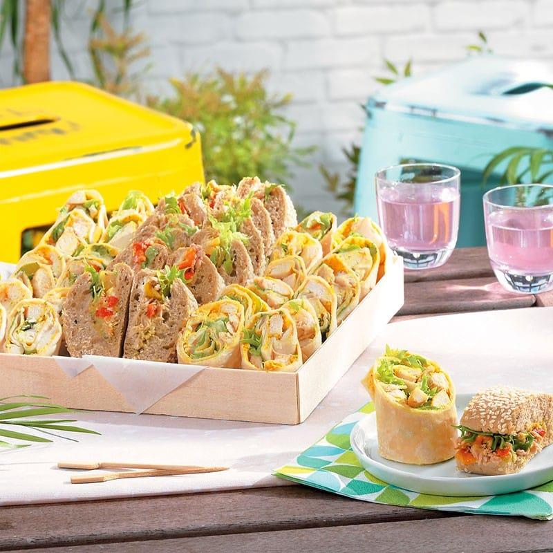 mini wrap buffet aperitif