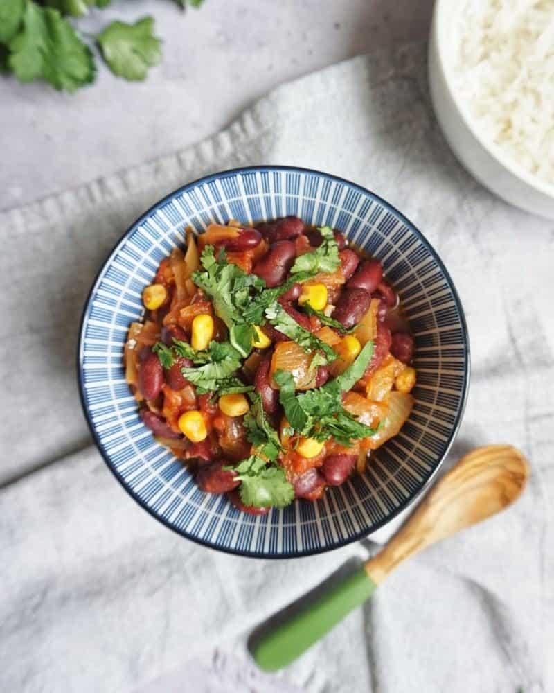 chili sin carne recette