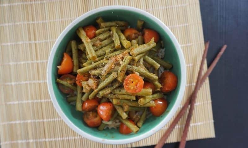 haricots verts à la sauce piquante recette