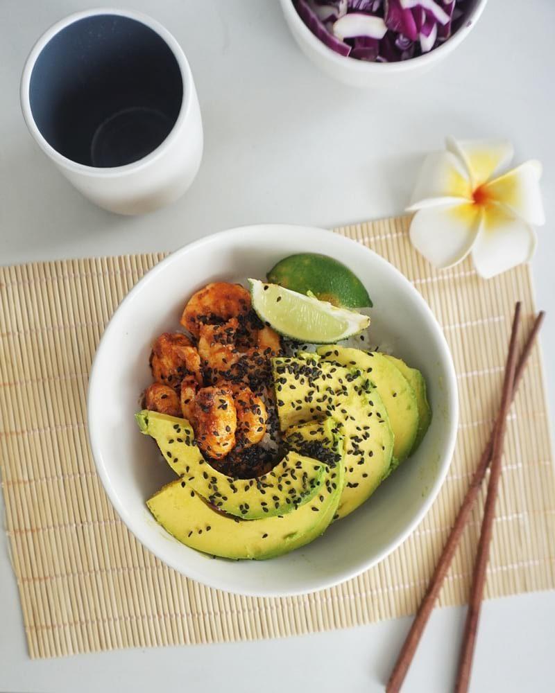 crevettes sautées paprika avocat citron recette