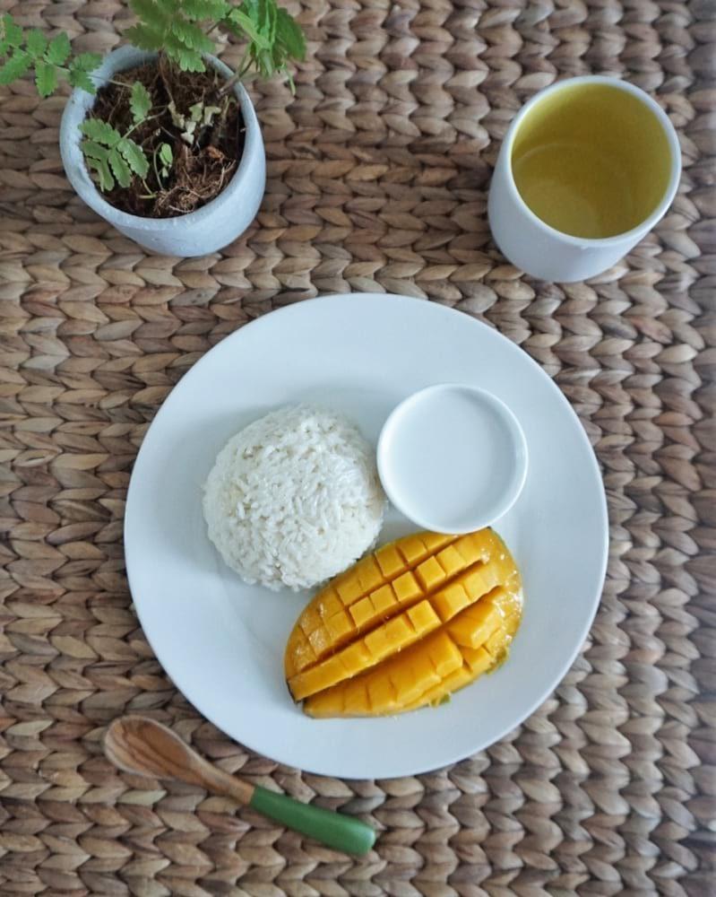 mango sticky rice recette dessert thaï