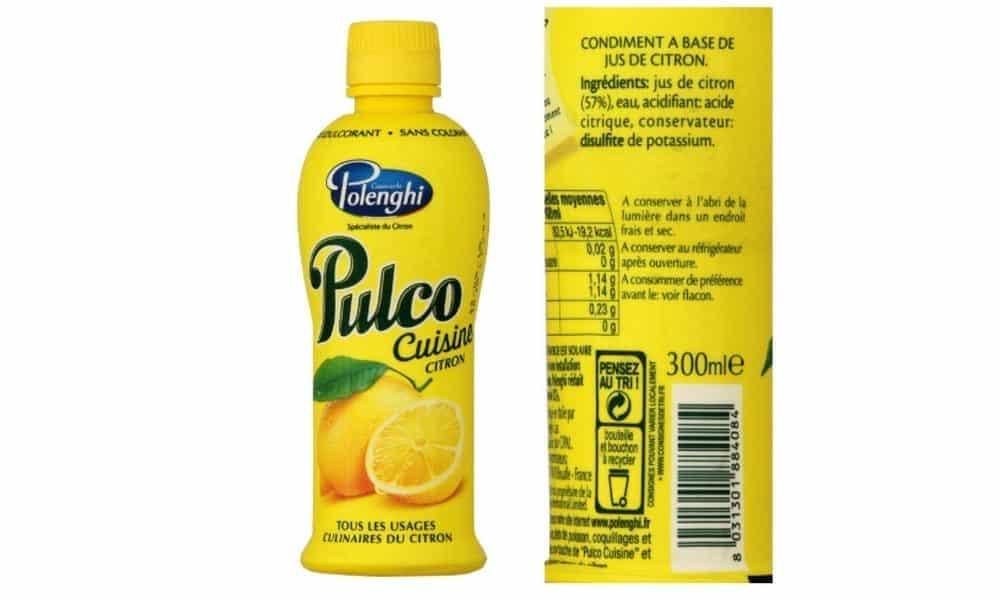 jus de citron pulco cuisine