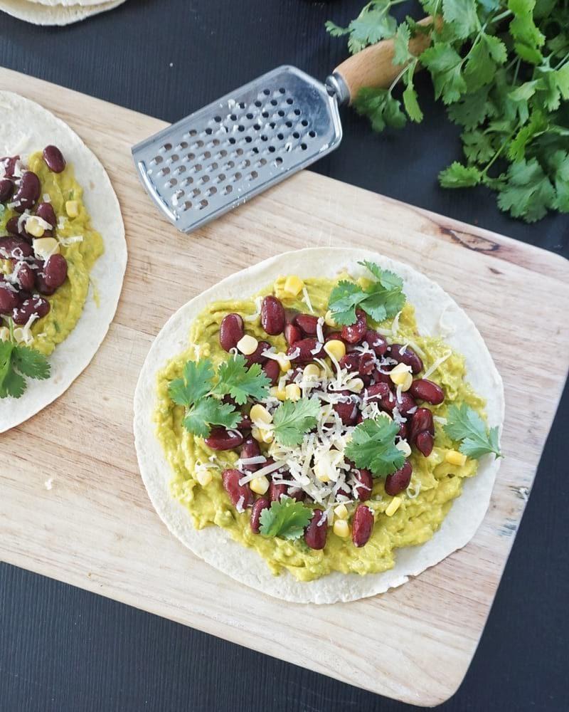pizzettes de tortillas mexicaines recette gourmande