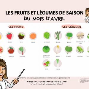 calendrier fruits et légumes de saison téléchargeable 04 avril